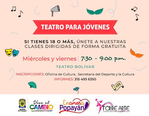 Clases de Teatro para Jóvenes en Popayán