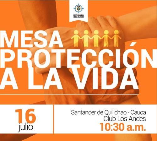 Mesa de Protección a la Vida