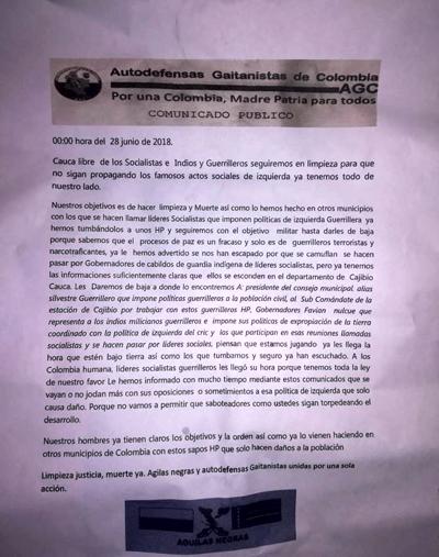 Masacre en Argelia, Cauca