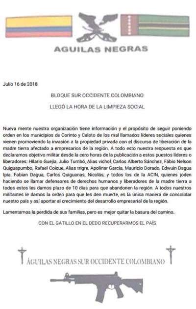 El asesinato de hoy: Ibes Trujillo, en Suárez. Siguen las amenazas.
