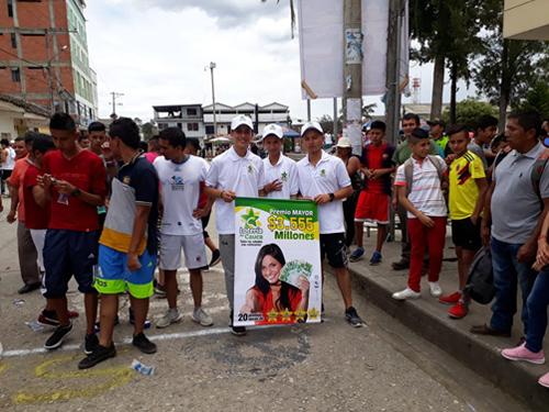 Timbío también hizo parte de las actividades deportivas, Lotería del Cauca y sus atletas