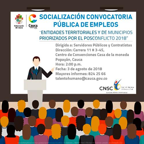 INVITACIÓN A SOCIALIZACIÓN DE CONVOCATORIAS PÚBLICA DE EMPLEOS