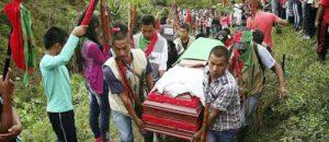 Sigue la matanza de líderes sociales en el Cauca