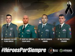 Cuatro militares muertos en siniestro de helicóptero