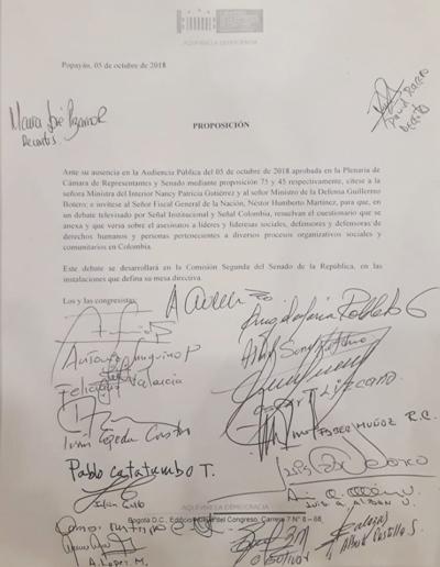 """""""Colombia por la Vida"""""""