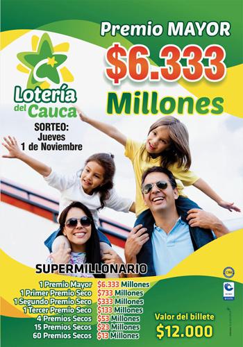 Lotería del Cauca adelanta la navidad con el Súper Millonario