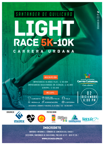 Carrera Atlética Urbana - Light Race 10k