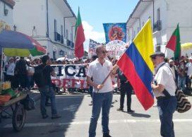 Rector de Unicauca sale a marchar con estudiantes en Popayán