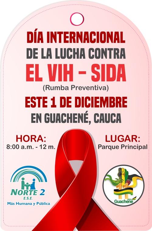 Día Internacional de la Lucha contra el SIDA, se conmemora en Guachené
