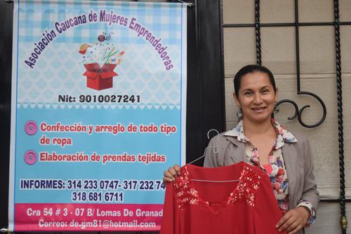 Darly Gurrute Muñoz es una líder innata que busca proteger los derechos de las mujeres a través de un emprendimiento textil denominado Asociación Caucana de Mujeres Emprendedoras.