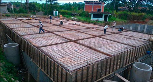 Tanques de almacenamiento de agua terminados
