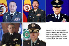 Presidente cambió la cúpula de las Fuerzas Militares y de Policía