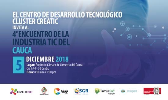Cuarto encuentro de la industria TIC del Cauca
