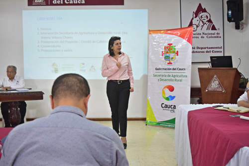 Ximena Velasco Chávez, secretaria de Agricultura y Desarrollo Rural del Cauca