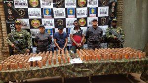 Incautan 118 kilos de explosivos en Suárez