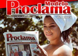 Modelo Proclama del Cauca del mes de enero 2019 - Alejandra Castillo
