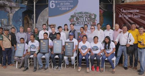 Inzá se llevó el premio al mejor café del Cauca 2019