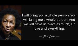 Un bello poema en inglés de Mari Evans