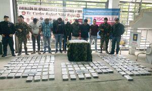 Los capturaron con 190 kilos de cocaína