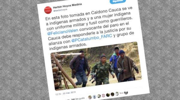 Periodista señala falsamente a indígenas de guerrilleros