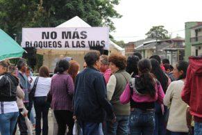 Plantón en Popayán en contra del bloqueo de la Panamericana