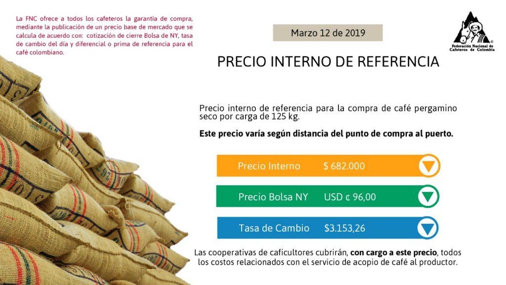 Precio interno de referencia para la compra de café