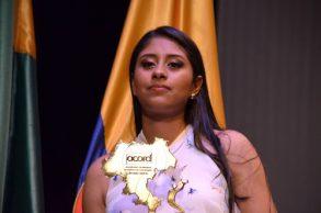 Laura Tatiana Ordóñez, bicicrosista timbiana obtuvo el reconocimiento como Mejor Deportista del Año 2018.