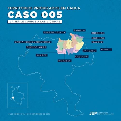JEP investigará crímenes en otros nueve municipios de Cauca y Valle