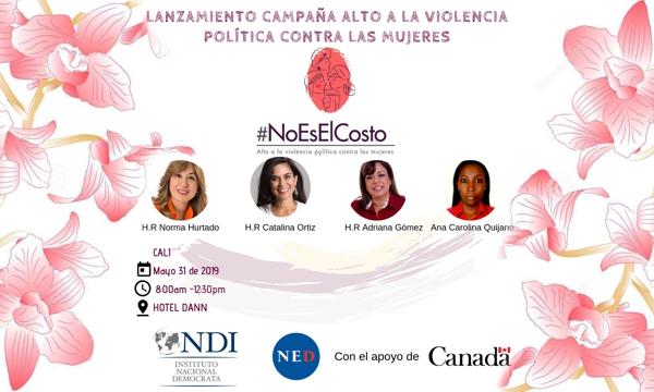 """Campaña """"No a violencia política contra mujeres"""""""