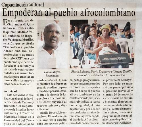 Proclama del Cauca rechaza presunto plagio