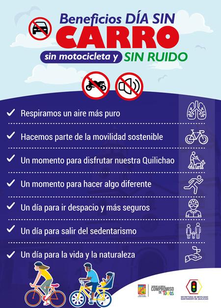 Beneficios del Día Sin Carro, Sin Moto y Sin Ruido