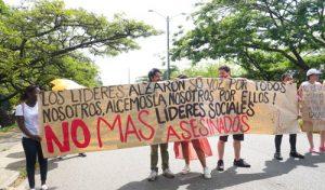Quilichagüeños alzaron su voz por los líderes sociales