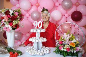 En el cumpleaños 90 de mi madre