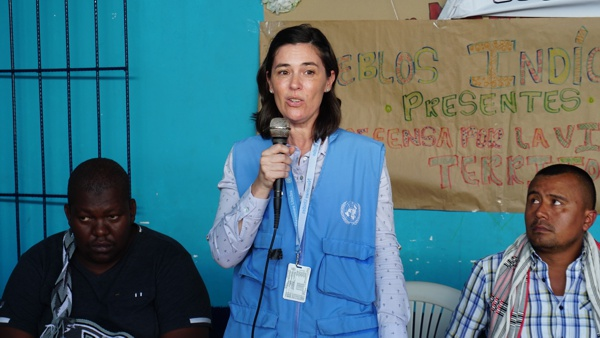 delegada de la Misión de Verificación de la ONU en Colombia