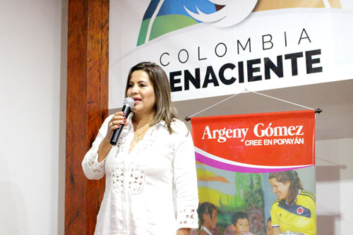 Argeny Gómez cree en López Castrillón, cree en Popayán