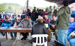 Campo, atiende minga de comunidades de Santa Leticia, Puracé