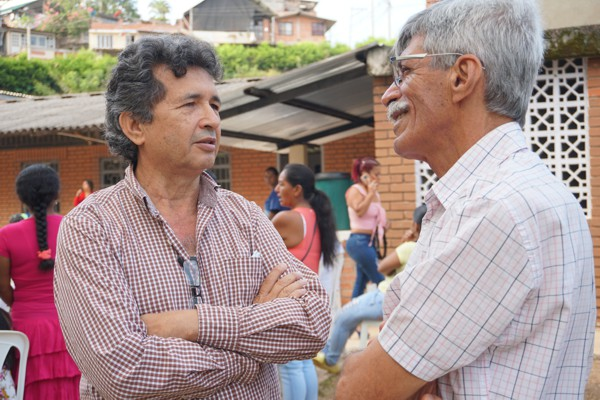 Rafael Barney, familiar donante del predio para niñez del municipio de Santander.