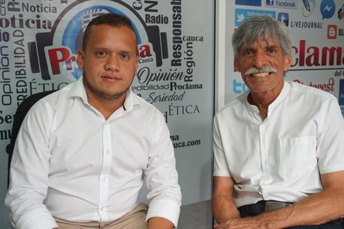 """El """"Chiqui"""" y el director de Proclama del Cauca, Alfonso José Luna Geller"""