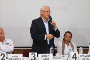 'El Pollo' hizo propuesta para empresarios, productores y ambientalistas