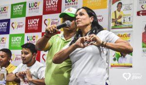 Lucy Amparo Guzmán, la alcaldesa del pueblo