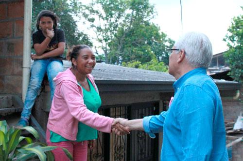 Comunidad de la vereda Torres compartió con Juan Carlos López
