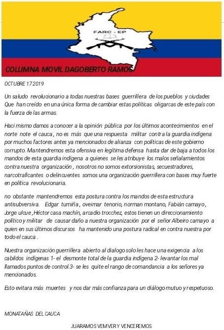 Avanza proyecto sicarial en el Norte del Cauca