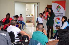 Gobernación del Cauca brinda garantías a las personas con discapacidad