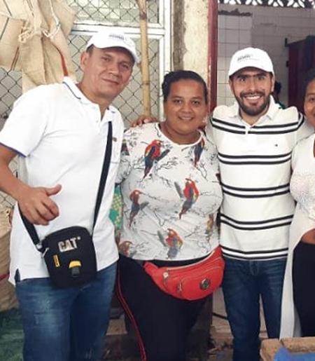 John Jairo Osorio Bravo (izquierda), nombró como gerente de su campaña al contratista del Municipio John Julián Guerrero González (derecha).
