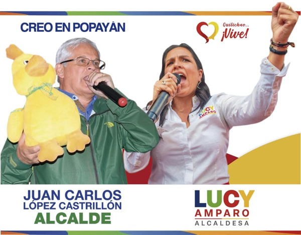 Juan Carlos López Castrillón, Popayán; Lucy Amparo Guzmán González, Santander de Quilichao