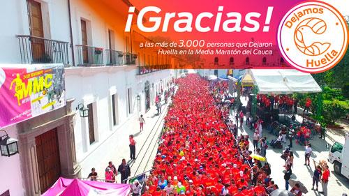Atletas dejaron huella en la Media Maratón Internacional del Cauca