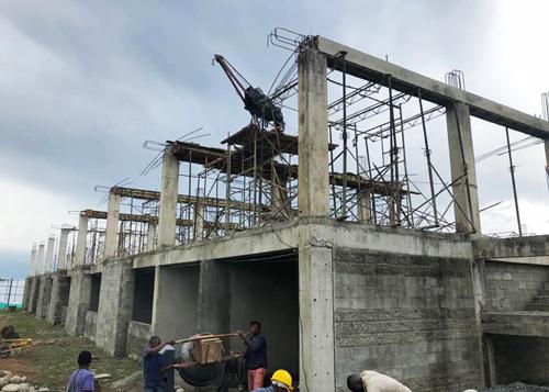 Avanza construcción de centro educativo en Caloto