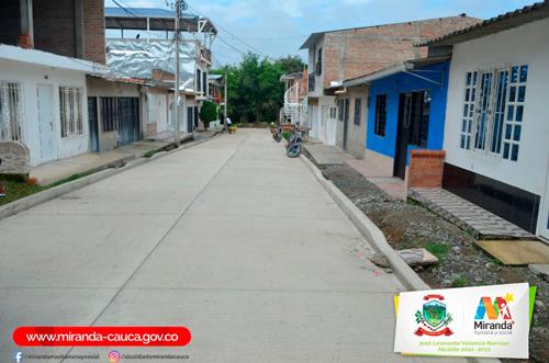 Calles de Miranda pavimentadas
