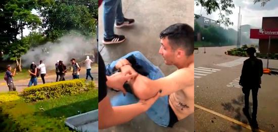 Esmad ataca con gases a estudiantes en Santander de Quilichao