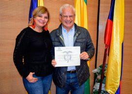 Juan Carlos López Castrillón recibe credencial como alcalde de Popayán